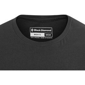 Black Diamond Equipment for Alpinist Camiseta Manga Corta Hombre, black